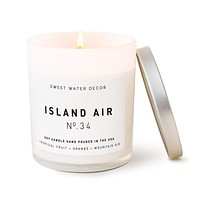 Island Air Soy Candle | White Jar Candle