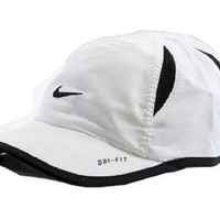 Nike Boy's Dri-Fit Baseball Cap Embroidered Logo Hat (12/24 Months, White)