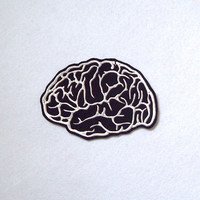 Brain Patch Embroidery