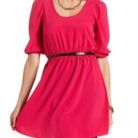 BELTED BACK CUT-OUT DRESS