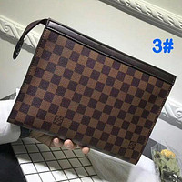 Louis Vuitton Fashion Casual Woman Men Envelope Clutch Bag Leather File Bag Tote Handbag F