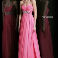 Ruched Evening Gown by Sherri Hill