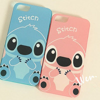 Stitch Anime iPhone 5 case - Cute Stitch Anime iPhone 4/4S/5/5S Case - really lovely Handmade Stitch case iPhone 5S Case