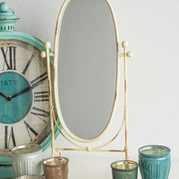 Cream Metal Vanity Mirror
