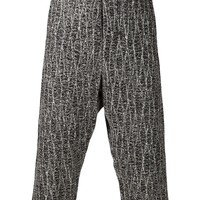 Song For The Mute print trousers