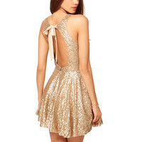 Women Winter Dress  Night Club Evening Party Christmas Sexy Sequin Gold Dress 2017 Black Friday 11.11