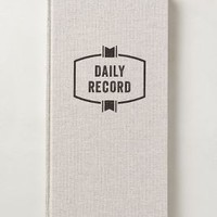 Daily Record Journal by Anthropologie Grey One