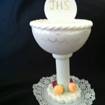 First Communion Chalice Cake Topper, Boy First Communion , First Communion Decorations, Boys First Communion, First Communion Chalice Favor