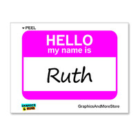 Ruth Hello My Name Is Sticker