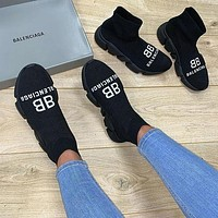 Balenciaga High-Top cushioning socks and shoes