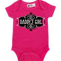 Daddy's Girl Hot Pink One Piece for babies at My Baby Rocks