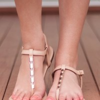 Toes in the Sand Sandal-Nude - NEW ARRIVALS