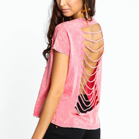 CROPPED CUT-OUT ACID TEE