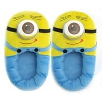 EsenToys Despicable Me 3D Eyes Minion Stewart Soft Plush Doll Adult Plush Slippers OneEye, 30cm