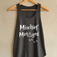 Mischief Managed Magic Spell Shirt Harry Potter Shirts Tank Top Women Size S M L