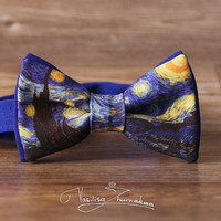 Van Gogh Starry Night Bow tie - Bowtie