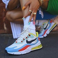 Nike AIR MAX 270 fashion men and women breathable casual sports cushioning shoes