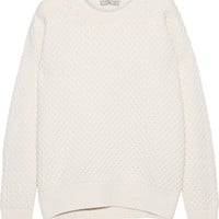 Vince - Honeycomb-knit wool and yak-blend sweater