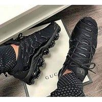 Nike Air Vapormax Plus Popular Woman Men Casual Running Sport Shoes Sneakers Black