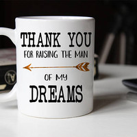 Thank You For Raising The Man Of My Dreams, Father of the Groom, Father in law Gift, Father in law mug, wedding gift for Grooms father, Mug
