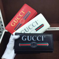 Gucci:Women Fashion Leather Buckle Wallet Purse
