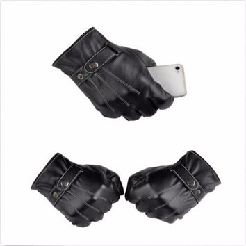 Full Finger Leather Motorcycle Gloves