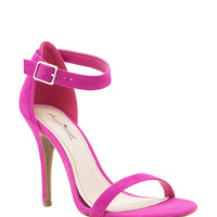 Enzo 01 Fx Suede Two Strap Heel
