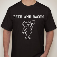 BEER AND BACON|Party shirt|beer tshirt|drinking shirt|beer shirt|beer|funny tshirt|handmade|this guy.mens clothing.mens t-shirt.beer shirt.