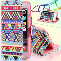 Flip Leather Phone Bags &Cases For iphone 6 6S Plus 5.5inch Matte Art  Printed Owl Wallet Stand Insert Card Holder Cover
