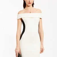 White Invisible Zipper Women's Party Dress