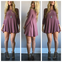 A Soft Kitty Tunic in Mauve