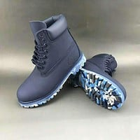 Timberland Martin in the high-top fashion men's shoes F-HAOXIE-ADXJ Blue