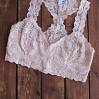 The Essential Racerback Blush Lace Bralette