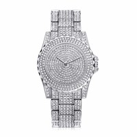 Techno Pave Totally Iced Out Pave Silver Tone Hip Hop Men'S Bling Bing Watch 690005437309
