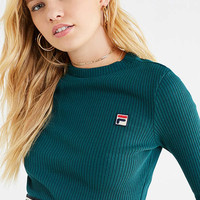 FILA Colleen Cropped Long Sleeve Top | Urban Outfitters