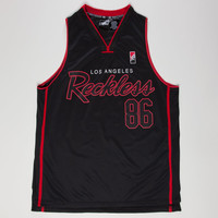 Young & Reckless Og Reckless Mens Jersey Tank Black/Red  In Sizes
