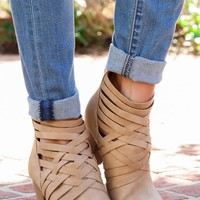 Strong Enough Booties-Beige