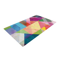 """Mareike Boehmer """"Color Blocking"""" Rainbow Abstract Woven Area Rug, 2' x 3' - Outlet Item"""
