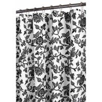 Park B. Smith® Black Floral Swirl 72-Inch x 72-Inch Watershed® Shower Curtain