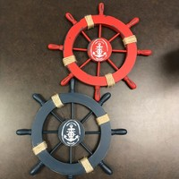 Assorted Ship Wheels With Rope - Coastal Gifts & Decor