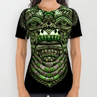 Aztec Jedi master Yoda All Over Print Shirt by Greenlight8
