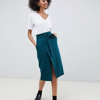 ASOS DESIGN tailored pencil skirt with obi tie | ASOS