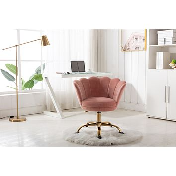 Desk chair with wheels - Velvet Gray