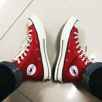 """Converse"" Fashion Canvas Flats Sneakers Sport Shoes Hight top Red"