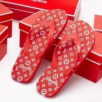 LV supreme slippers Shoes H