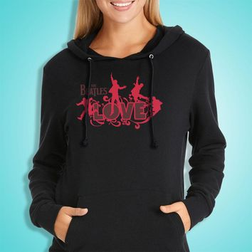The Beatles In Love Women'S Hoodie