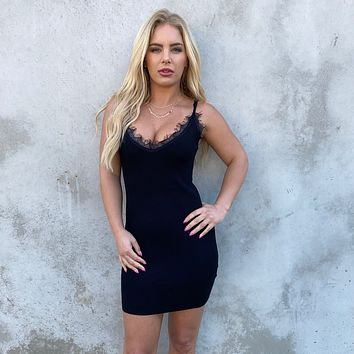 Wanting More Bodycon Dress In Black