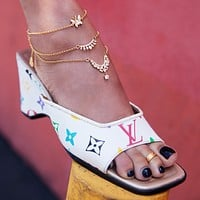 Mariposa Mami Triple Anklet