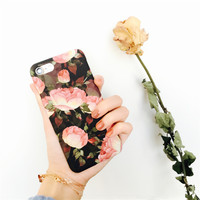 White Rose Case Cover for iPhone 7 7Plus & iPhone se 5s 6 6 Plus with Gift Box