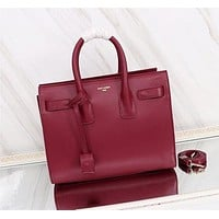 YSL Women Leather Shoulder Bags Satchel Tote Bag Handbag Shopping Leather Tote Crossbody-88